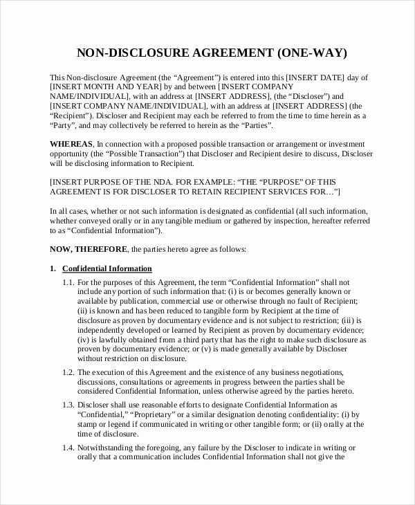 Real Estate Non Disclosure Agreement Best Of Non Disclosure Agreement Template 16 Free Word Pdf Document Downloads