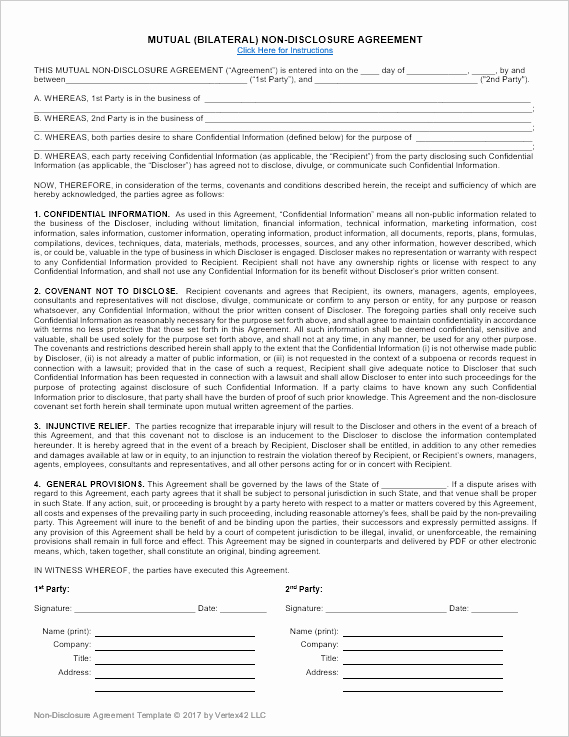 Real Estate Non Disclosure Agreement Best Of Pin On Business
