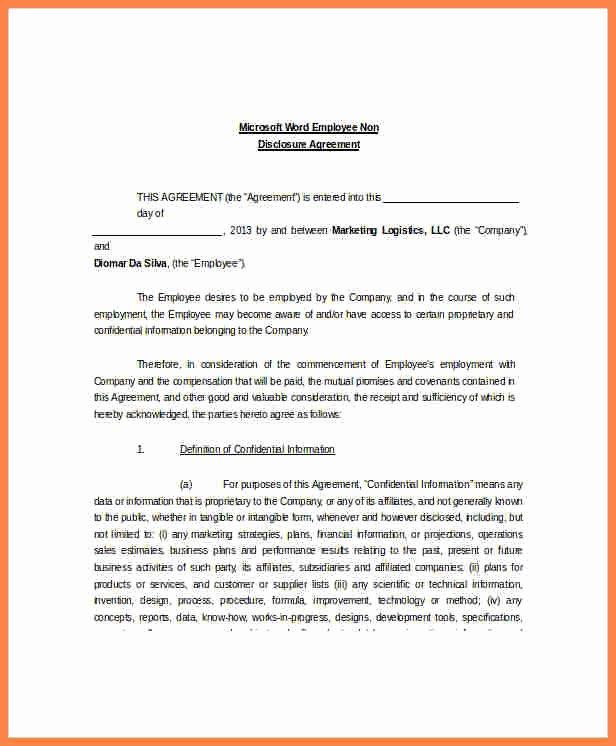Real Estate Non Disclosure Agreement Elegant 8 Unilateral Non Disclosure Agreement Template