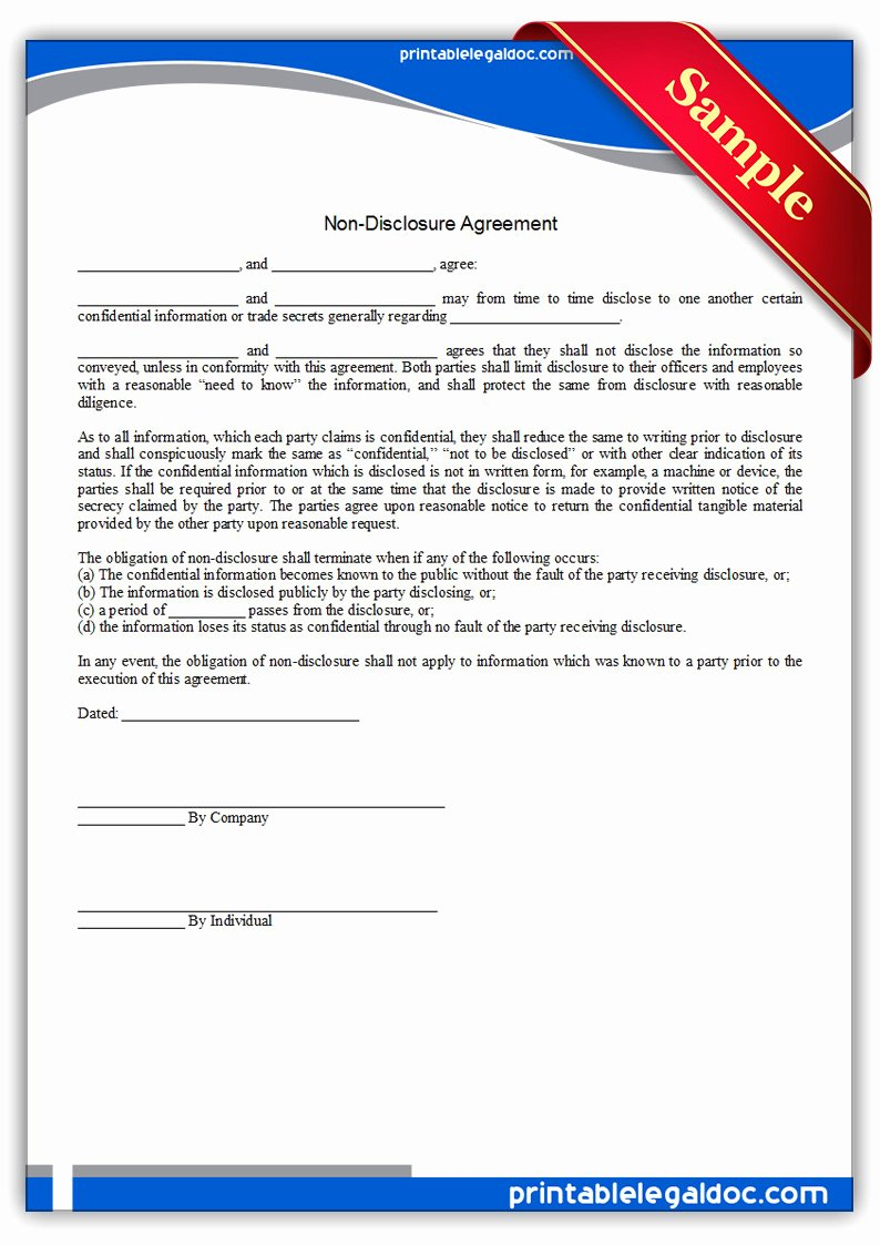 Real Estate Non Disclosure Agreement Inspirational Free Printable Fer to Purchase Real Estate form Generic