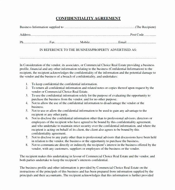 Real Estate Non Disclosure Agreement Luxury Mskcap