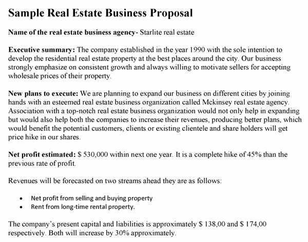 Real Estate Proposal Template Awesome Real Estate Business Proposal Template