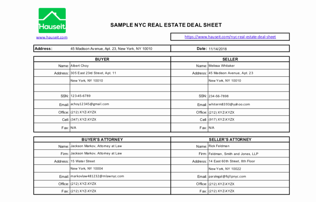 Real Estate Term Sheet Inspirational How to Prepare A Real Estate Deal Sheet In Nyc 2019