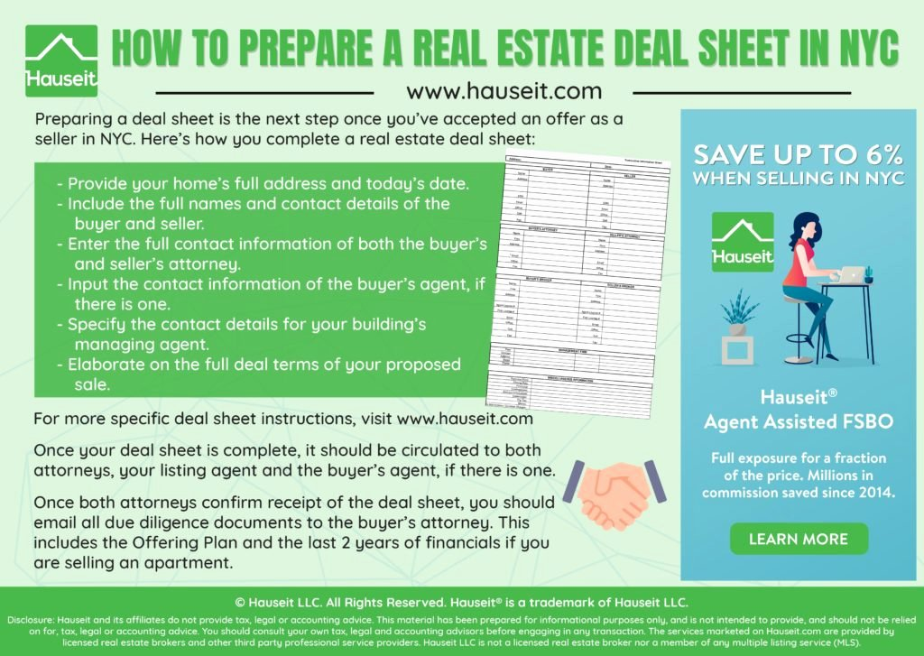 Real Estate Term Sheet Lovely How to Prepare A Real Estate Deal Sheet In Nyc 2019