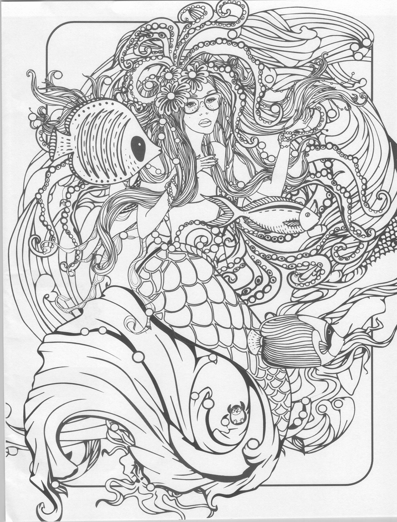 Realistic Mermaid Coloring Pages Awesome Mermaid Coloring Page Mermaid Coloring Pages for Adults Pinterest
