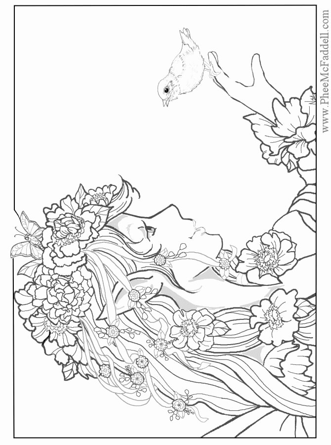 Realistic Mermaid Coloring Pages Inspirational Fairy Coloring Pages for Adults