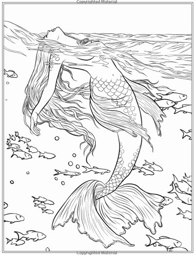 Realistic Mermaid Coloring Pages Lovely Best Mermaid Coloring Pages & Coloring Books Cleverpedia