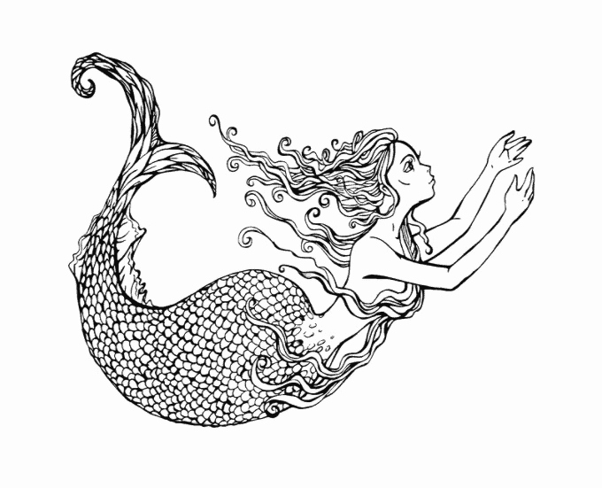 Realistic Mermaid Coloring Pages Lovely Mermaid Coloring Pages and Books for Adults and Children