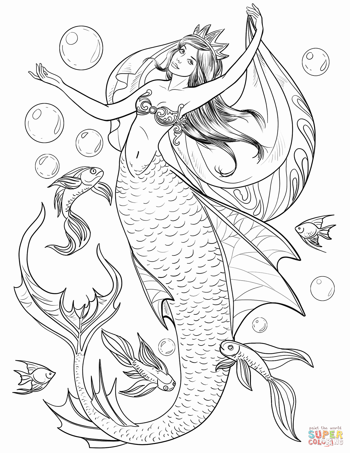 Realistic Mermaid Coloring Pages New Mermaid Coloring Page