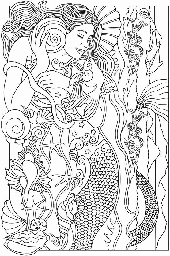 Realistic Mermaid Coloring Pages New Realistic Mermaid Illustrations Coloring Books Coloring Pages to Print Mermaids