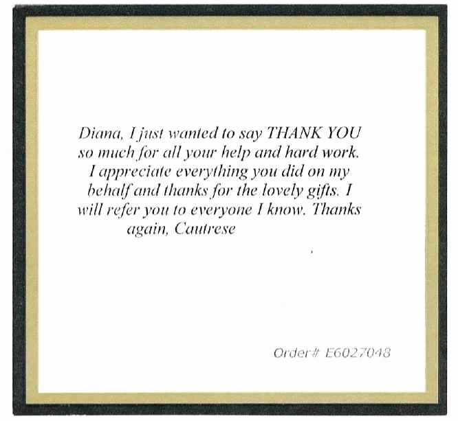 Realtor Thank You Notes Best Of Reviews for Diana Lisinski Real Estate Specialist