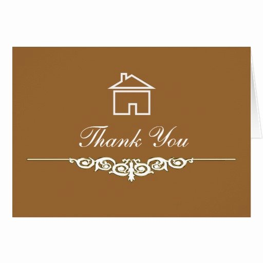Realtor Thank You Notes Inspirational Real Estate Thank You Cards