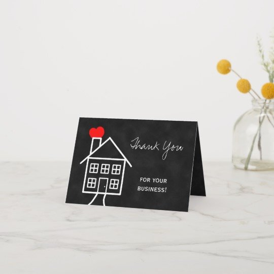 Realtor Thank You Notes Lovely Realtor Thank You Note Card
