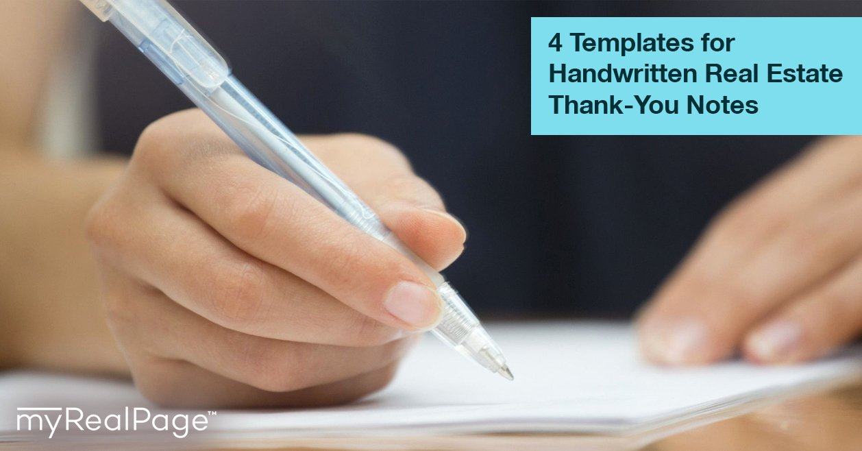 4 templates handwritten real estate thank notes