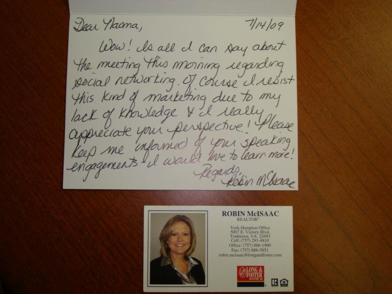 Realtor Thank You Notes Luxury Don T Underestimate the Power the Handwritten Note