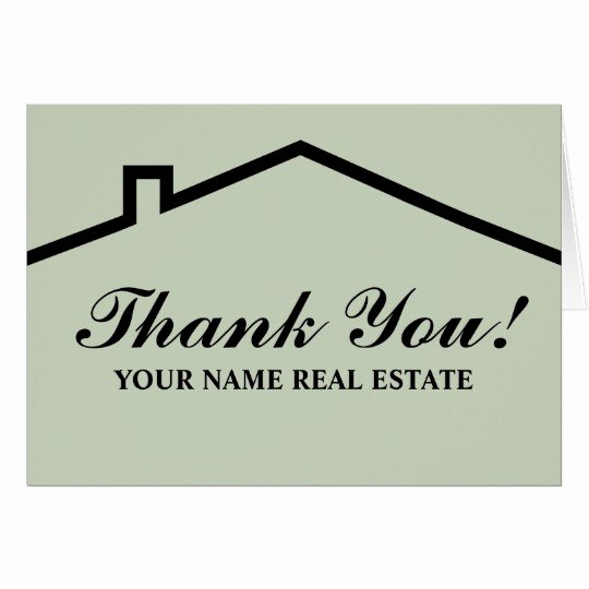 Realtor Thank You Notes Unique Real Estate Thank You Note Cards for Business