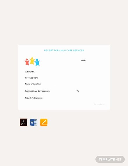 Receipt for Child Care Services Elegant 113 Free Receipt Templates Download Ready Made