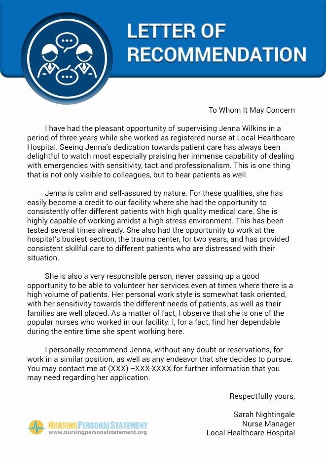 Recommendation Letter for Nursing School Beautiful Pin by Nursing Personal Statement Samples On Nursing
