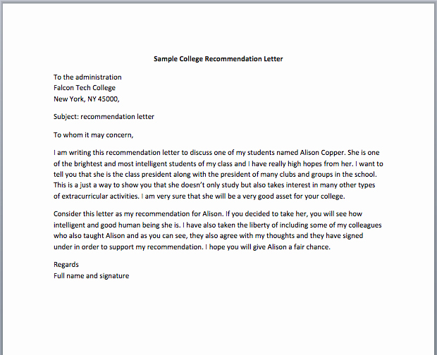 Recommendation Letter for Nursing School Luxury 9 Letter Of Re Mendation for Nursing School Free Download
