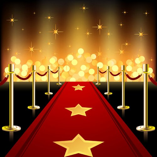 Red Carpet Backdrop Template Luxury ornate Red Carpet Backgrounds Vector Material 04 Free