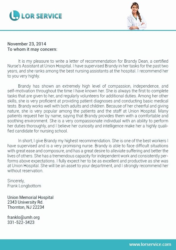 Reference Letter for Nursing School Best Of Pin by Lor Service On Nursing Letter Of Re Mendation Sample