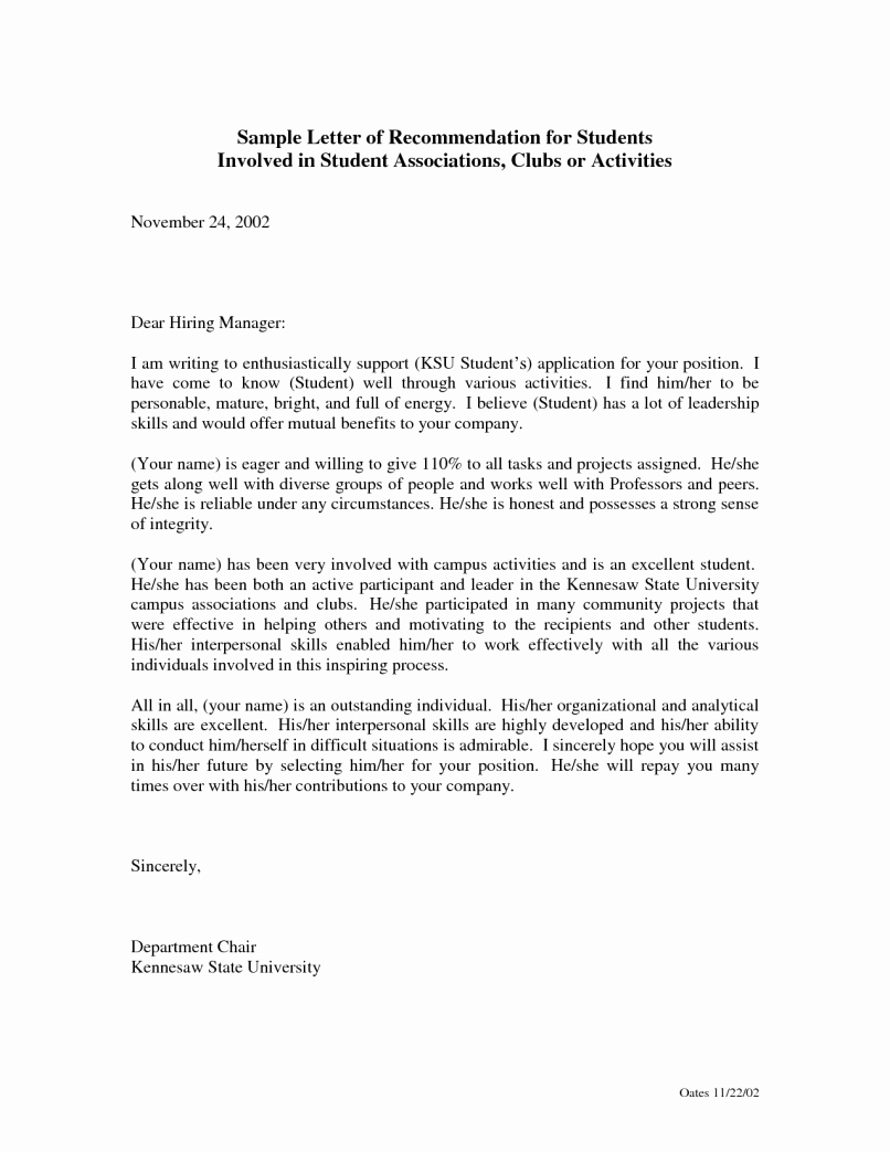 Reference Letter for Nursing School Best Of Sample Re Mendation Letter for Nurse Practitioner Job