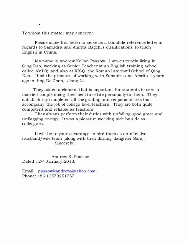 Reference Letters for Babysitters Beautiful Re Mendation Letter From andrew Kellan Passow