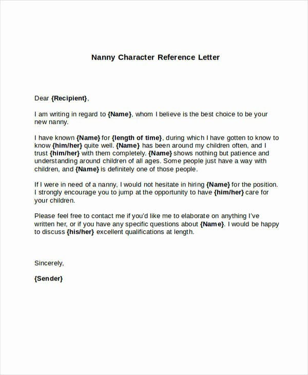 Reference Letters for Babysitters Fresh 5 Sample Nanny Reference Letters Pdf Word