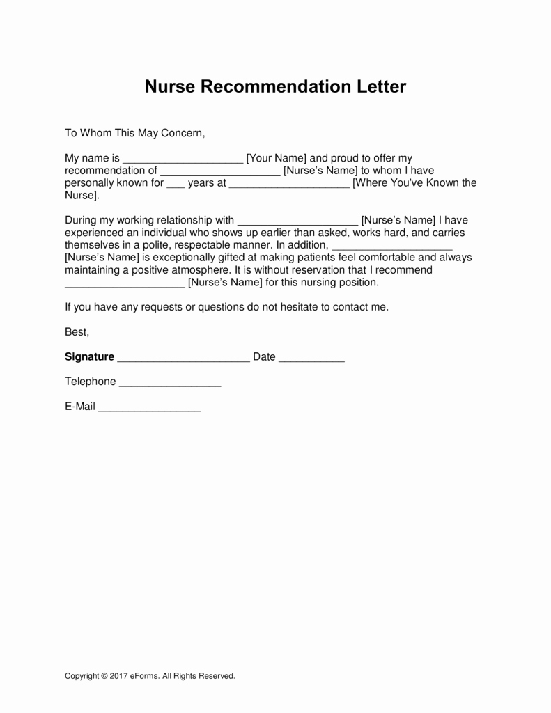 Reference Letters for Nursing School Elegant 5 Letter Of Re Mendation for Nursing School Template Daily Roabox