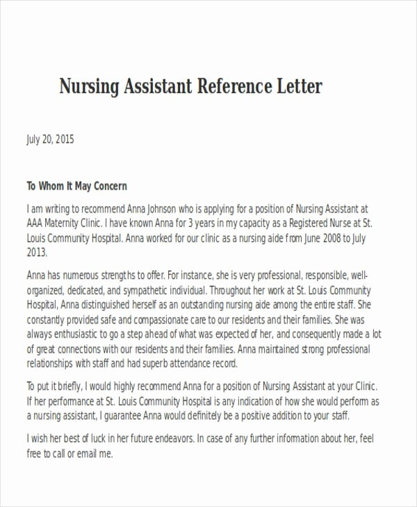 Reference Letters for Nursing School Unique Registered Nurse Reference Letter Samples Cover Letters