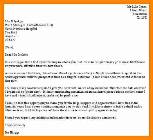 Registered Nurse Resignation Letter Elegant 10 Sample Registered Nurse Resignation Letter