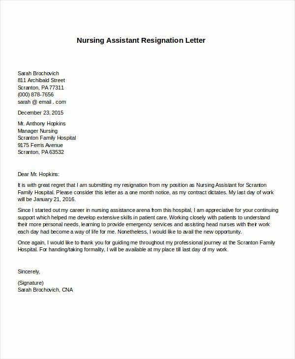 Registered Nurse Resignation Letter Fresh 31 formal Resignation Letters