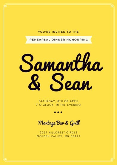 Rehearsal Dinner Invitation Template Awesome Customize 411 Rehearsal Dinner Invitation Templates Online Canva