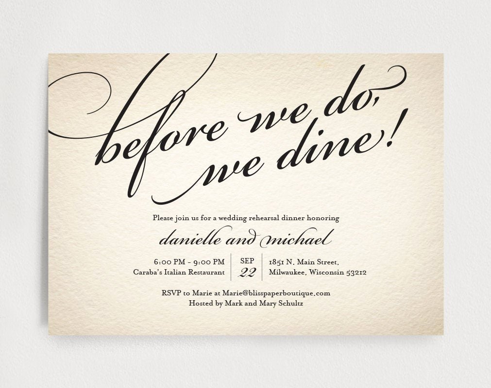 Rehearsal Dinner Invitation Template Awesome Wedding Rehearsal Dinner Invitation Editable Template before