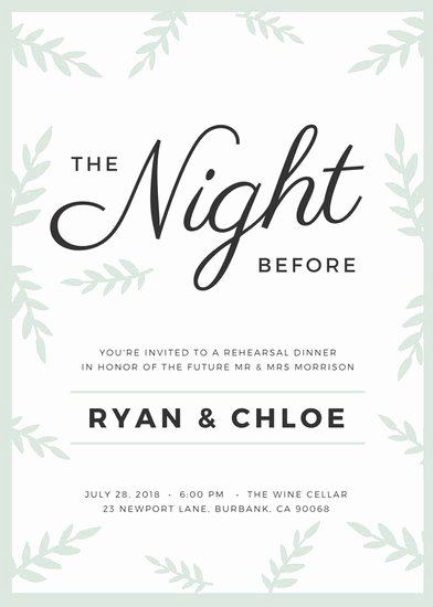 Rehearsal Dinner Invitation Template Beautiful Customize 411 Rehearsal Dinner Invitation Templates Online Canva