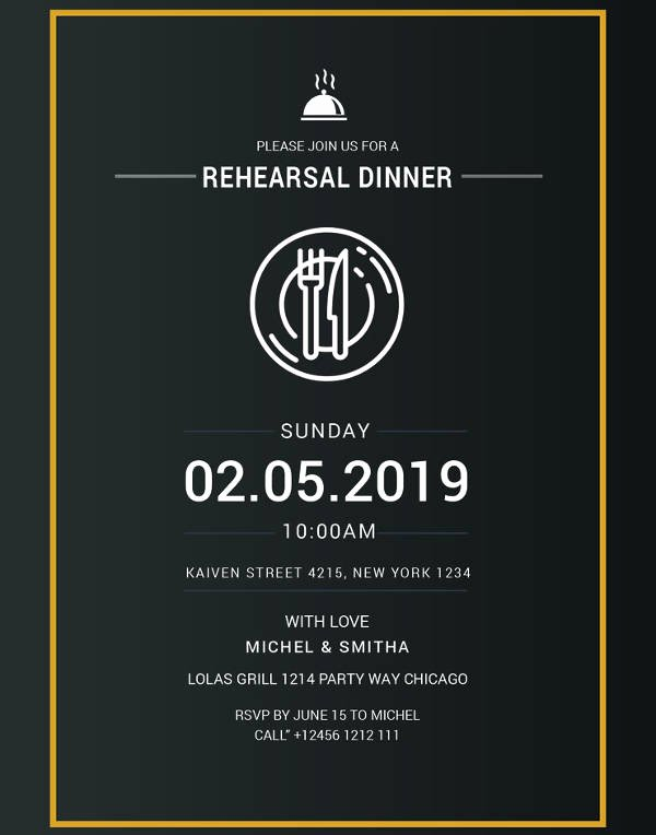 Rehearsal Dinner Invitation Template Best Of 17 Rehearsal Dinner Invitation Designs & Templates Psd Ai