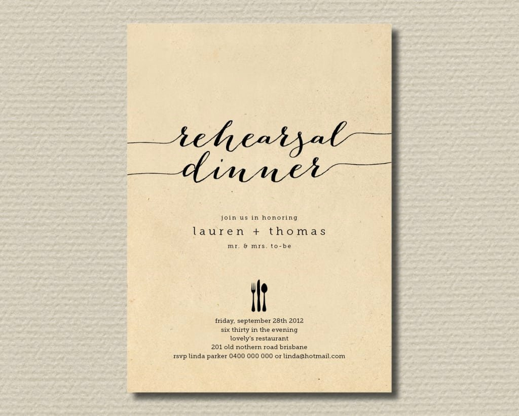 Rehearsal Dinner Invitation Template Fresh Rehearsal Dinner Invite