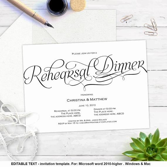 Rehearsal Dinner Invitation Template Inspirational Printable Invitation Templates Rehearsal Dinner Diy