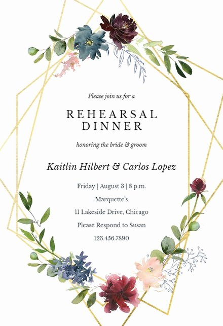 Rehearsal Dinner Invitation Template Lovely Rehearsal Dinner Invitation Templates Free