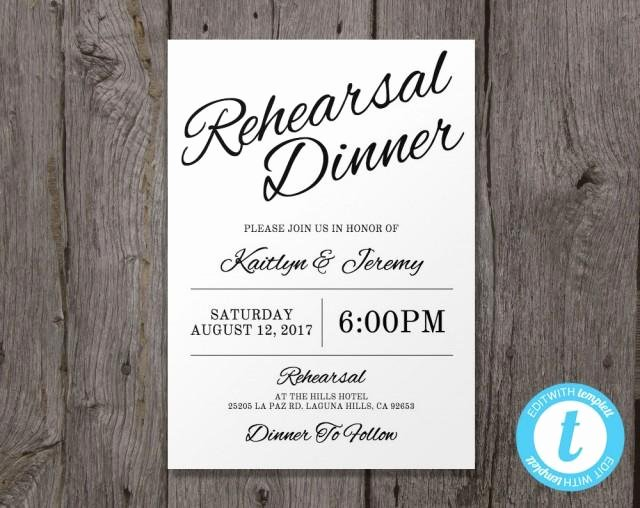 Rehearsal Dinner Invitation Template Unique Printable Wedding Rehearsal Dinner Invitation Template Instant Download Edit In Our Web App