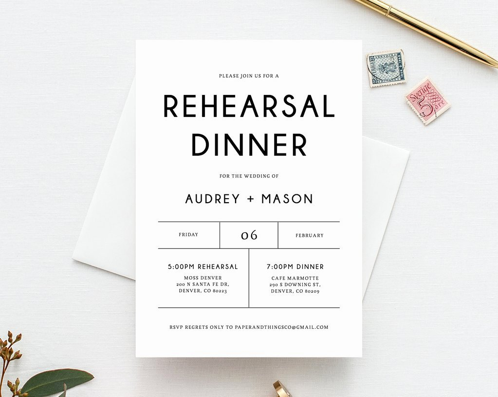Rehearsal Dinner Invitation Template Unique Rehearsal Dinner Invitation Template Printable Wedding Rehearsal Invi