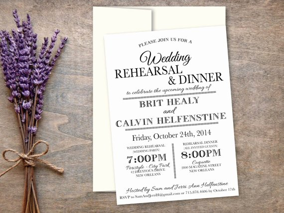 Rehearsal Dinner Invitation Template Word Beautiful Rehearsal and Dinner Invitation Elegant Modern Calligraphy