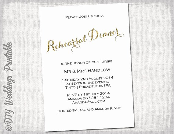 Rehearsal Dinner Invitation Template Word Elegant Rehearsal Dinner Invitation Template Gold Glitter