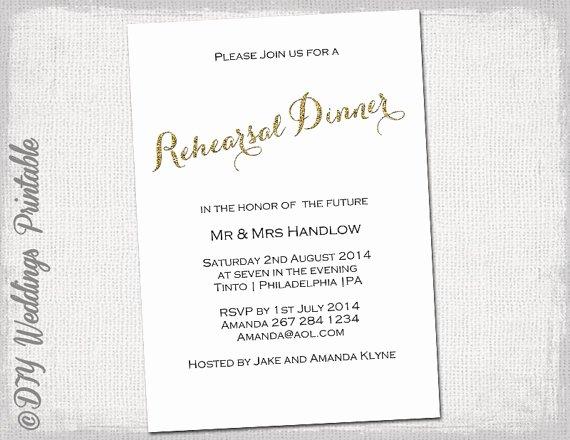 Rehearsal Dinner Invitation Template Word Elegant Rehearsal Dinner Invitation Template Gold Glitter
