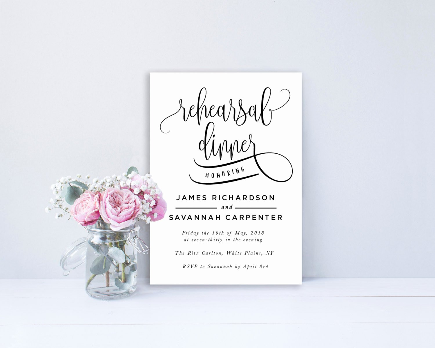 Rehearsal Dinner Invitation Template Word Fresh Rehearsal Dinner Invitation Template Editable Invitation