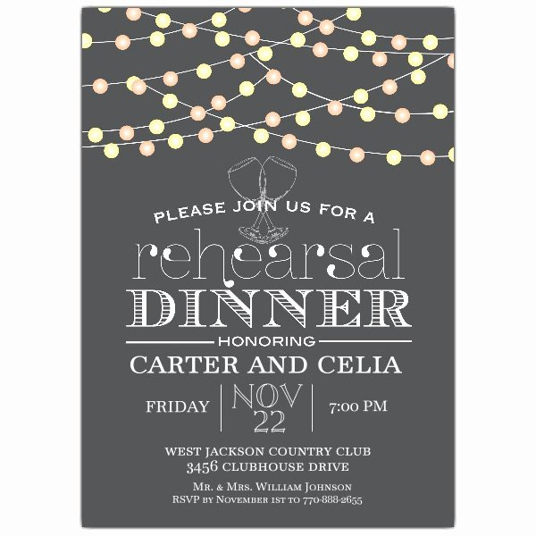 Rehearsal Dinner Invitation Template Word Inspirational Night Lights Rehearsal Dinner Invitation