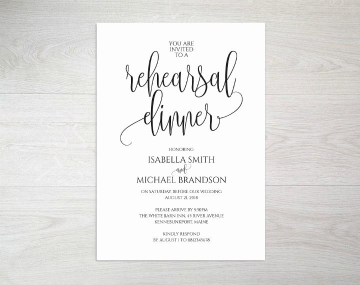 Rehearsal Dinner Invitation Template Word Lovely 14 Wedding Rehearsal Invitation Designs & Templates Psd Ai