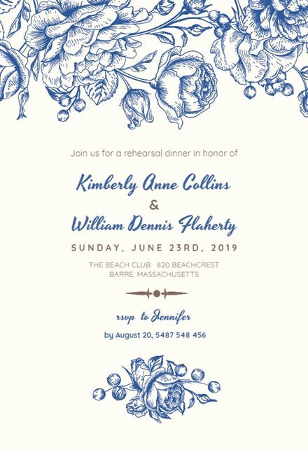 Rehearsal Dinner Invitation Template Word Unique Rehearsal Dinner Invitation Templates Free