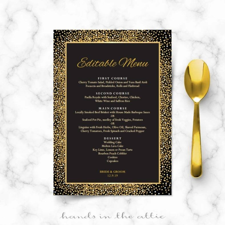Rehearsal Dinner Menu Template Awesome 14 Art Deco Menu Designs & Templates Psd Ai Indesign