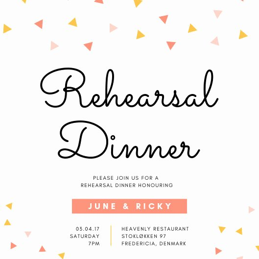 Rehearsal Dinner Menu Template Awesome Confetti Rehearsal Dinner Invitation Templates by Canva